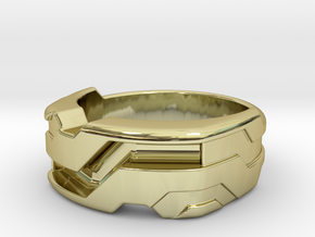 US10 Ring XXI: Tritium (Silver) in 18K Gold Plated