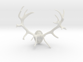 Red Deer Antler Mount - 50mm in White Strong & Flexible