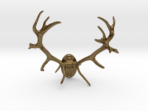Red Deer Antler Mount - 50mm in Natural Bronze