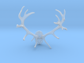 Red Deer Antler Mount - 50mm in Smooth Fine Detail Plastic
