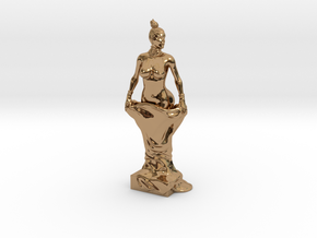 Kim Kardashian sculpture in Polished Brass