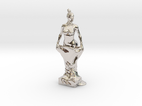 Kim Kardashian sculpture in Platinum