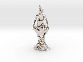 Kim Kardashian sculpture in Rhodium Plated Brass