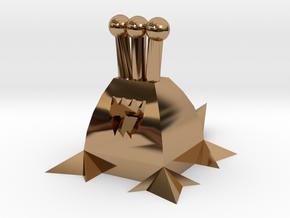 Polygonal Alien (Plain) in Polished Brass