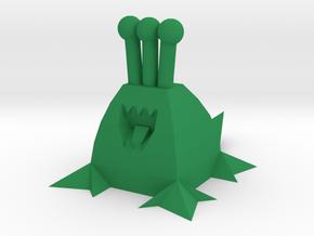 Polygonal Alien (Plain) in Green Processed Versatile Plastic
