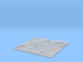 Terrain Model Lunar South Pole (Flat Projection) in Smooth Fine Detail Plastic