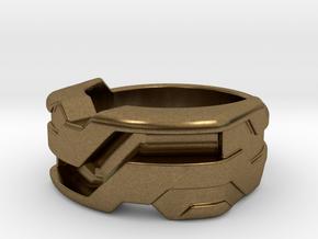 US6 Ring XXI: Tritium (Silver) in Natural Bronze