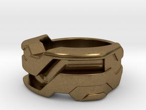 US5 Ring XXI: Tritium (Silver) in Natural Bronze