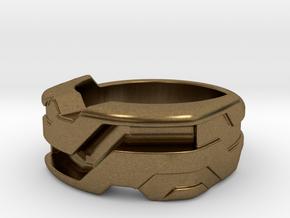 US7.5 Ring XXI: Tritium (Silver) in Natural Bronze