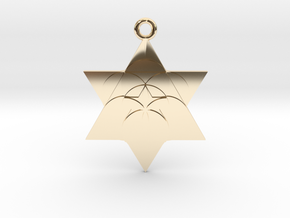 Star Seed Pendant in 14K Yellow Gold