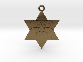 Star Seed Pendant in Natural Bronze