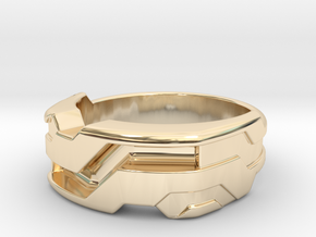 US11 Ring XXI: Tritium (Silver) in 14k Gold Plated Brass