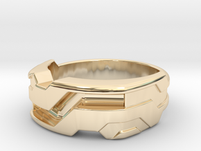 US11.5 Ring XXI: Tritium (Silver) in 14K Yellow Gold
