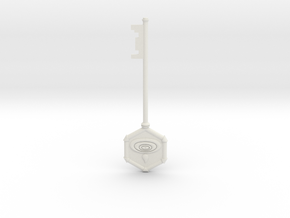 Resident Evil 0: Water key in White Natural Versatile Plastic