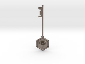 Resident Evil 0: Water key in Polished Bronzed Silver Steel