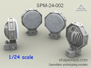 1/24 SPM-24-002 Truck LED Headlights in Smoothest Fine Detail Plastic