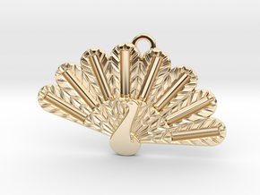 Peacock Fashion Pendant in 14K Yellow Gold