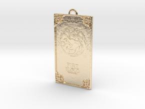 Game of Thrones - Targaryen Pendant in 14k Gold Plated Brass