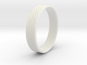 0102 Lissajous Figure Ring (Size10, 19.8mm) #003 in White Natural Versatile Plastic