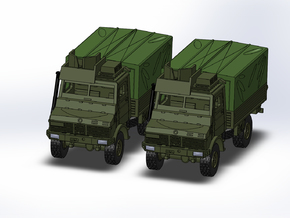 2x MB Unimog U1300 gepanzert/armored 1:144 in Smooth Fine Detail Plastic