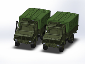 2x MB Unimog U1300 Militär 1:144 in Frosted Ultra Detail