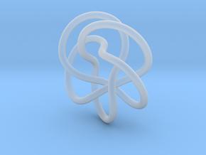 Tubular Torus Knot Pendant in Smooth Fine Detail Plastic