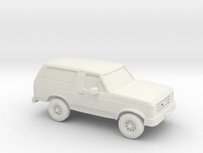 1/87 1989 Ford Bronco in White Natural Versatile Plastic