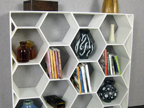 Sweet Spot 1:12 scale Bookshelf in White Processed Versatile Plastic