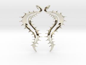 SeaSpikes Earrings in 14k White Gold