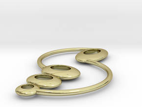 Earring Trio in 18k Gold Plated Brass