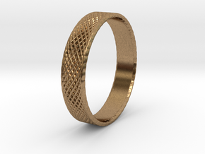 0103 Lissajous Figure Ring (Size10.5, 20.2mm) #004 in Natural Brass