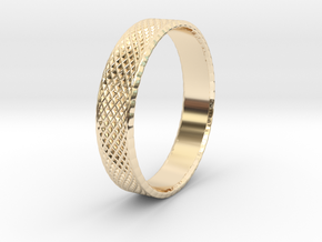 0103 Lissajous Figure Ring (Size10.5, 20.2mm) #004 in 14k Gold Plated Brass