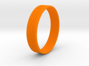 0103 Lissajous Figure Ring (Size10.5, 20.2mm) #004 in Orange Processed Versatile Plastic