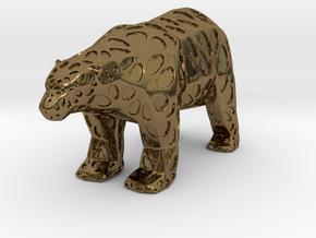 Polarbear in Polished Bronze