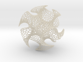 Spherical Voronoi - Gyroid in White Acrylic