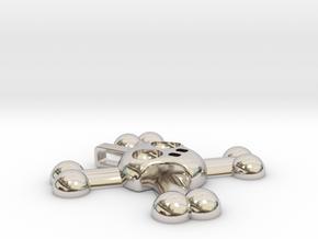 Skull and Crossbones Pendant in Platinum