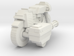 Bike RAM Small With Sidegun in White Natural Versatile Plastic
