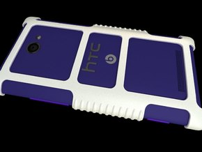 "HTC 8X Custom Case ""HTC 8x"" Theme in White Strong & Flexible Polished"