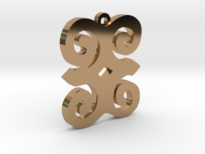 Dwennimmen Pendant in Polished Brass