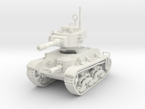 15mm Space Rebels Battle Tank in White Strong & Flexible