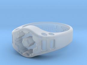 US13 Ring XIX: Tritium (Silver) in Smooth Fine Detail Plastic