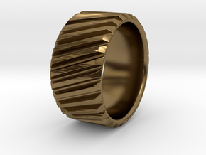 Gear Cog Fashion Ring Size 10 in Polished Bronze