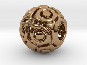 PA CharmV1D14SE86 in Polished Brass