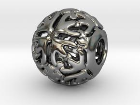 PA CharmV1D14SE74 in Fine Detail Polished Silver