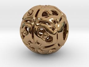 PA CharmV1D14SE71 in Polished Brass