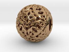 PA CharmV1D14SE67 in Polished Brass