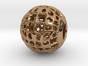PA CharmV1D14SE53 in Polished Brass