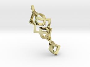 Flexxx Earrings in 18k Gold Plated Brass