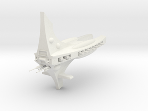 Carcharcal Frigate in White Natural Versatile Plastic