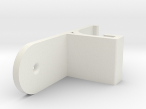 M3D Filament Guide (Vertical) in White Natural Versatile Plastic